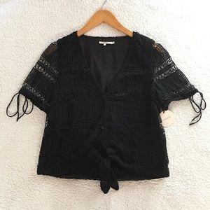 NWT Tularosa tie waist lace Corrin crop top